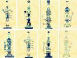 Tubo de agua de cristal de la corona popular con el tubo embriagador del cubilete del color del tabaco del reciclador de la alta calidad del percolador de la bóveda y del barril del tazón de fuente del arte del cenicero de los tubos de cristal altos del vidrio
