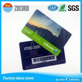 Cartões plásticos do tamanho do cartão de crédito com entrega rápida