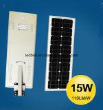 6W-80W LED 통합 태양 거리 또는 도로는 또는 모두 1개의 태양 빛에서 뜰을 만든다