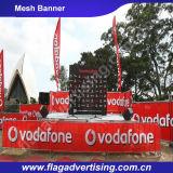 Bandeira personalizada do engranzamento da cerca do poliéster para o anúncio e a promoção