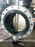 Duktiles Eisen-Doppelt-Flansch-Drosselventil mit Getriebe funktionieren
