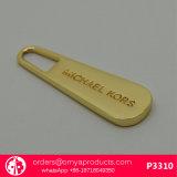 Entwerfer-Handtaschen-gravierte Messingreißverschluss-Abzieher mit kundenspezifischem Firmenzeichen
