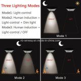 Luzes ao ar livre pstas solares brilhantes do diodo emissor de luz com sensor de movimento