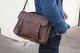 良質の顧客デザインブラウンの本革のバイクのスポーツのメッセンジャー袋