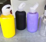 زاهية [بكر] زجاجة أمريكا شعبيّة رياضة زجاجة سليكوون كم صنع وفقا لطلب الزّبون زجاجة علامة تجاريّة زجاج فنجان