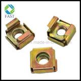 M4/M5/M6/M8/M10/M12 노란 아연에 의하여 도금되는 정연한 자물쇠 감금소 견과