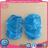 Cobertura de sapato descartável de sapato azul não tecido
