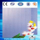 vidro figurado de 3mm-8mm teste padrão ultra desobstruído para as portas do banheiro (UCP-TP)