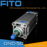 Цилиндр стандартного двойника ISO 15552 действующий пневматический