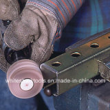 Rodas abrasivas da aleta com o eixo para o metal