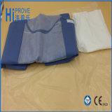 Sterile wegwerfbare medizinische Kleider pp.-/SMS/Lokalisierungs-Kleid/chirurgisches Kleid
