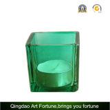 Vela votiva de cristal perfumada en vidrio del cubo