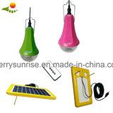 Luz solar portátil do diodo emissor de luz, bulbo solar, controlo remoto