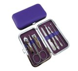 Оптовые 7PCS согласно с внимательность установленное Pedicure ногтя набора клипера ногтя комплекта Scissor инструменты комплекта Manicure выбора уха ножа щипчик общего назначения
