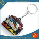 Zoll 2D Promotional Rubber Soft PVC Keychain für Events (LN-0180)