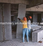 Tornar a parede de divisória concreta isolada Consruction que faz a máquina