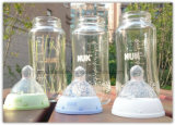 Botellas de vidrio de agua de leche para la alimentación del bebé Grado alimenticio