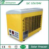 Refrigerador del congelador de la energía solar del compresor de la C.C. de Saso 12/24V del Ce