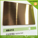 SUS 304 Golden Plate Super Mirror Finished Edelstahl Sheet für Hotel Decoration