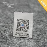 Etiqueta de cuidado superior da tela do tafetá da qualidade para a roupa