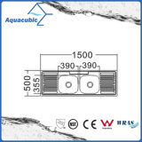 Boven de TegenGootsteen van de Keuken van Moduled van het Roestvrij staal (acs-15050D)