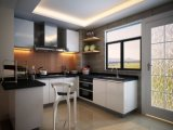 無光沢のラッカー現代デザイン食器棚
