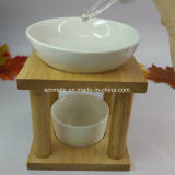 Hornilla de petróleo esencial de cerámica del marco de madera (CB-10)