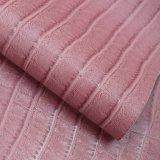 薄い色の織り方ライン浮彫りにされた総合的なPU袋の革