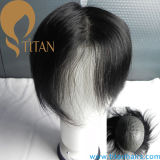 100% Sistema de cabelo humano PU Thin Skin Toupee