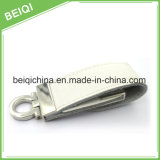 Factory Supply High Speed Gift USB Flash Drive com estojo de couro