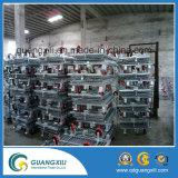 Racks de armazenamento de paletes de aço Mesh Wire com rodízios