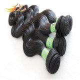 7Aボディ波の加工されていない人間の毛髪の編むバージンの毛の部分