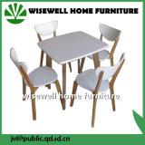 Tabela de jantar da madeira de carvalho com as 6 cadeiras de jantar (W-DF-0636)