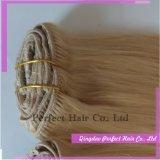 品質のRemyクリップ人間の毛髪の拡張