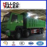 판매 371HP 8X4 팁 주는 사람 트럭을%s 50ton 수용량 덤프 트럭