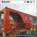 Prefab модульная дом контейнера с туалетом (панельный дом)