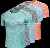 新しい到着の販売のための高級女性の麻のブランクのTシャツ/Top