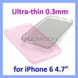 für iPhone 6 6plus Ultra Thin 0.3mm Clear Crystal Rubber Soft Cover Fall