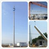 Galvanizado em volta da torre Telecom de aço do fio de indivíduo da antena