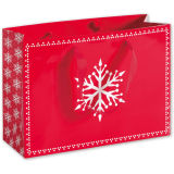 Sac de transporteur de papier élégant argenté de cadeau de promotion de clients pour des achats et l'empaquetage