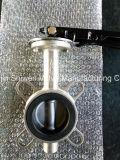 Тип клапан-бабочка вафли нержавеющей стали с шестерней/ручкой