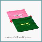 Gelber Samt-Beutel mit Silk Bildschirm-Drucken-Firmenzeichen
