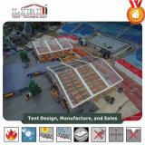 15X15m bietendes Zelt mit transparentem Dach und Seiten