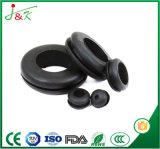 Pasamuros flexible de goma negro para los alambres y los cables del paso