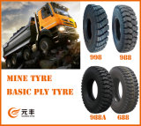 Nylon Bias Truck Tire (1300-25) with Rib and Lug Pattern