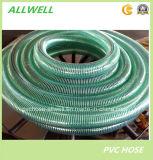 Tuyau de l'eau de couleur verte de spirale de source de fil d'acier de PVC 4 pouces
