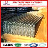 Feuille ondulée en acier de toiture de zinc en métal d'IMMERSION Z275 chaude