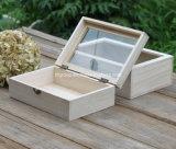 단단한 나무 차 상자 격실 상자 선물 상자 포장 상자 소나무 상자