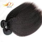 ベトナムのバージンの毛ねじれたまっすぐで自然なカラー#1b毛の織り方
