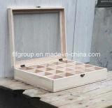 Contenitore impaccante di legno di pino del contenitore di contenitore di regalo del contenitore di scompartimento della scatola di il tè di legno solido